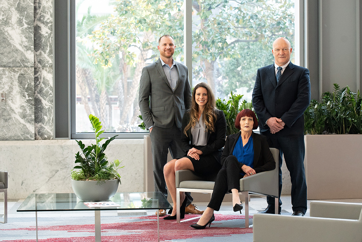 Waterfront Wealth Management Group Robert Brower, Dustin Tracy, Karen A. Corey, Ivy Povoa